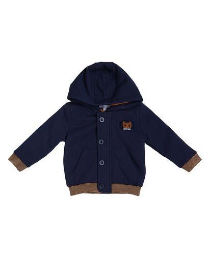 Nachtblauw teddy vest